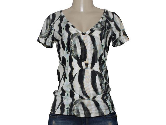 T-shirt Feminino Triton 341401024 Off White Estampado Preto