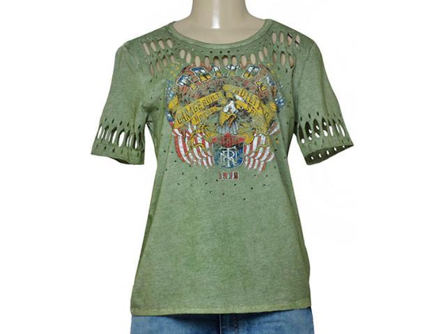 T-shirt Feminino Triton 341400974 Verde Militar