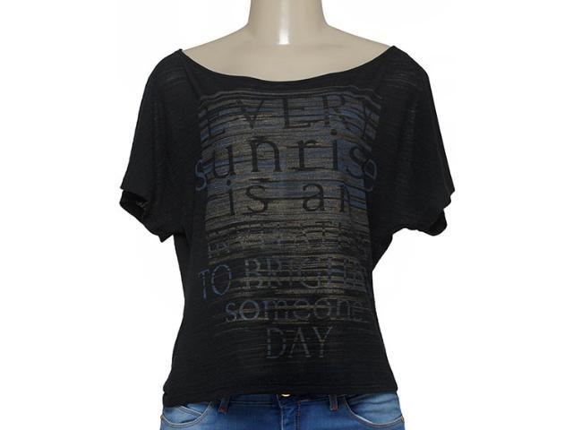 T-shirt Feminino Zinco 103065 Preto