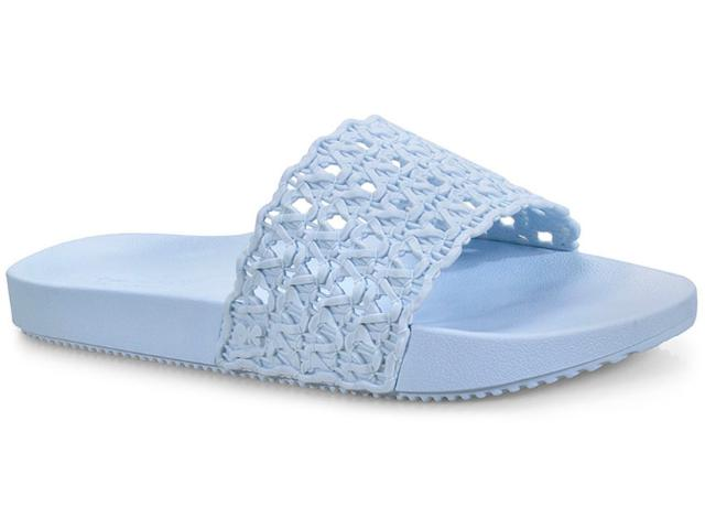 Tamanco Feminino Grendene 17669 90061 Zaxy Snap Mesh Slide  Azul