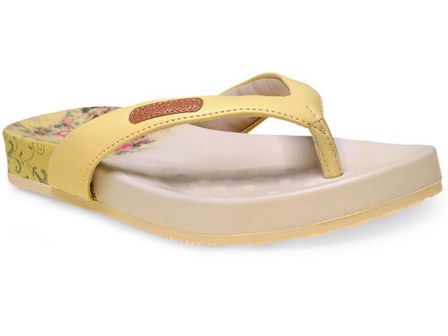 Tamanco Feminino Comfortflex 15-40401 Amarelo