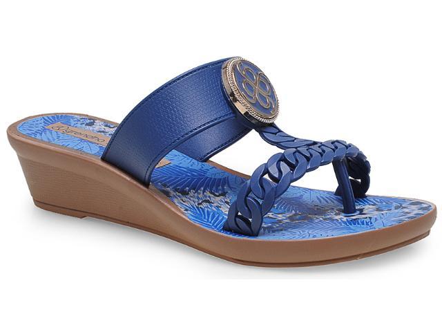 Tamanco Feminino Grendene 16848 Grendha jp Tropicana Azul Marinho