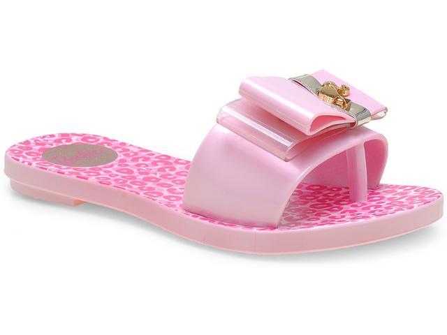 Tamanco Fem Infantil Grendene 21265 Barbie Chic Rosa Claro