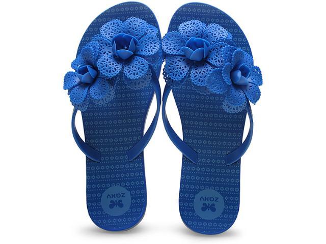 Tamanco Feminino Grendene 16963 Zaxy Fresh Garden  Azul