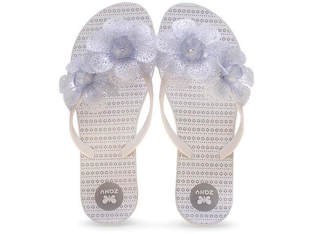 Tamanco Feminino Grendene 16963 Zaxy Fresh Gar Branco Glitter