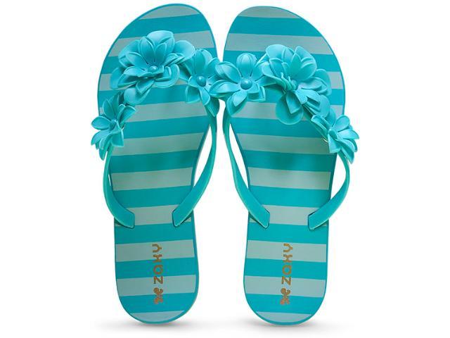 Tamanco Feminino Grendene 17289 Zaxy Fresh Azul Turquesa
