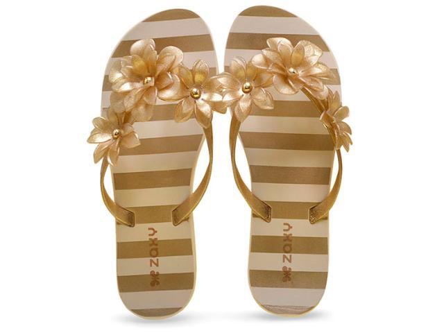 Tamanco Feminino Grendene 17289 Zaxy Fresh Dourado Gliter