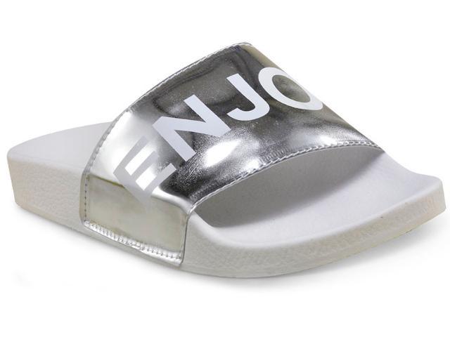 Tamanco Feminino Via Salt C5001 Branco/prata
