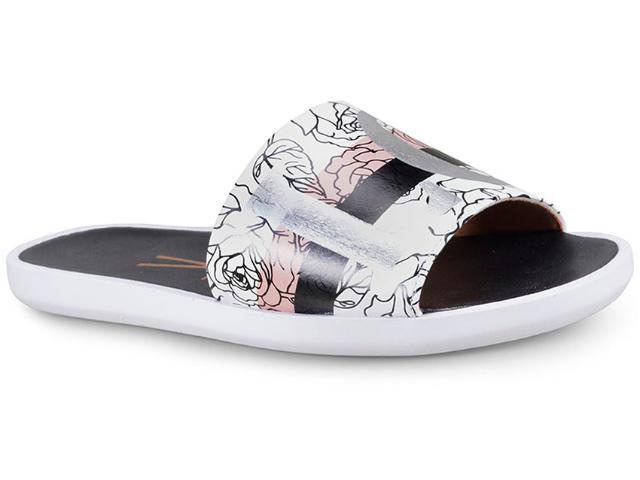 Tamanco Feminino Vizzano 6363116 Branco/preto/rosa/prata