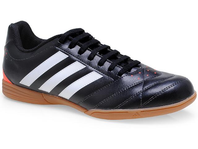 Tênis Masculino Adidas M18328 Goletto v in Preto/branco/laranja