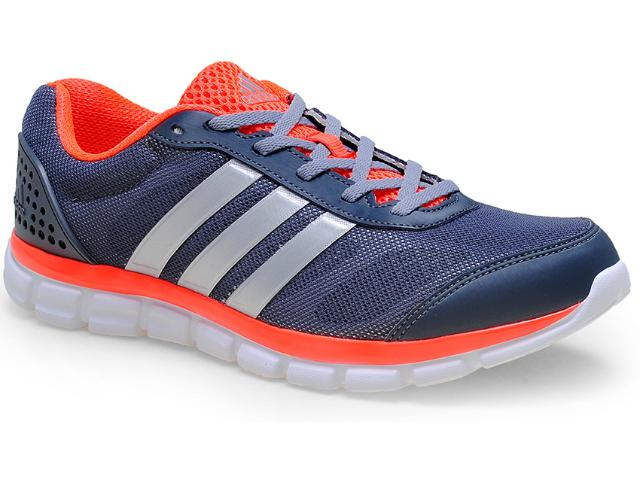 Tênis Masculino Adidas M18411 Breeze 202 2m Chumbo/laranja