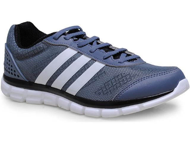 Tênis Masculino Adidas B40302 Breeze 202 2 m   Cinza/branco/preto