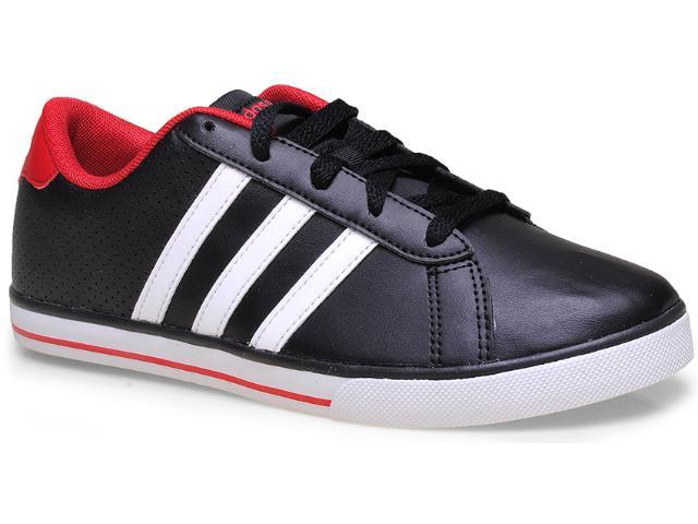 Tênis Masculino Adidas F38711 se Daily Vulc k  Preto/branco/vermelho