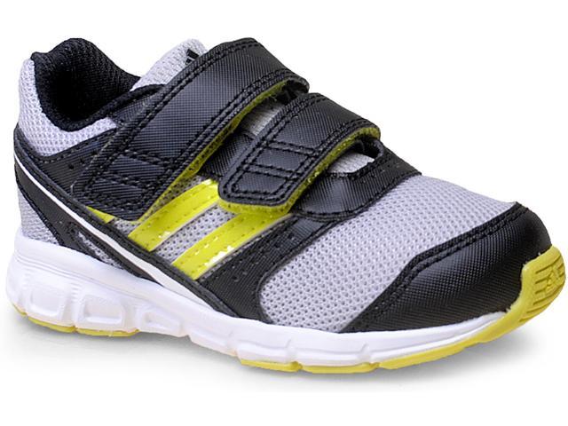 Tênis Masc Infantil Adidas M29444 Hyperfast cf Inf  Preto/cinza/limão