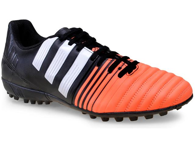 Tênis Masculino Adidas B40466 Nitrocharge 4 tf  Preto/laranja/branco