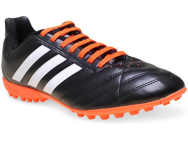 Tênis Masculino Adidas B27092 Goletto v tf Preto/laranja