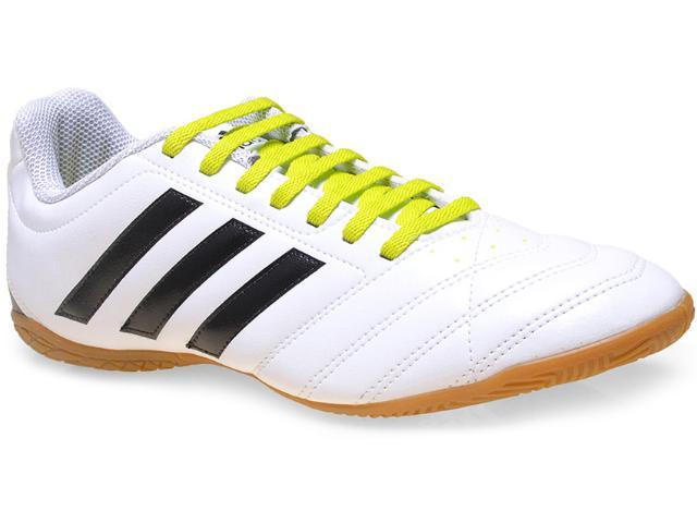Tênis Masculino Adidas B27083 Goletto v in Branco/preto/limão