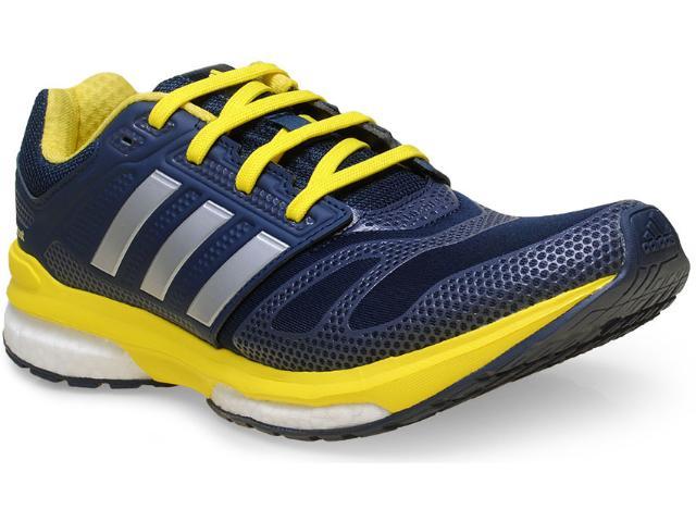 Tênis Masculino Adidas B22929 Revenge Boost 2 m tf  Marinho/amarelo