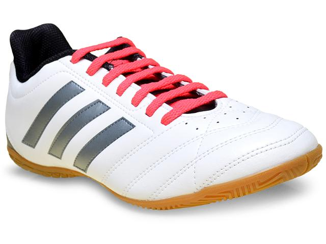 Tênis Masculino Adidas Af4997 Goletto v in Branco/pink