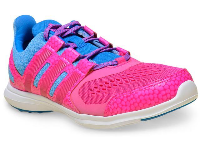 Tênis Feminino Adidas Af4511 Hyperfast 2.0 k Text Pink/azul