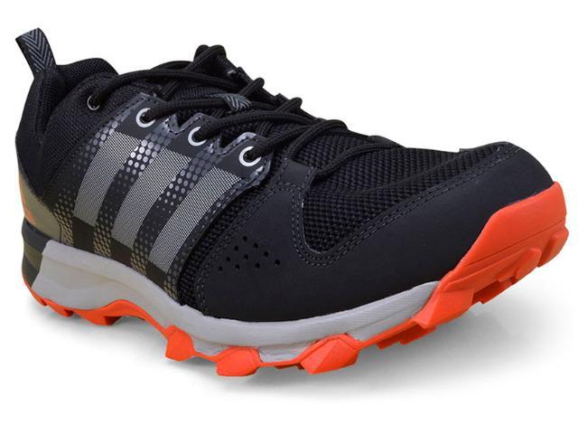 Tênis Masculino Adidas Bb3482 Galaxy Trail  Preto/laranja