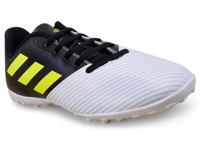Tênis Masculino Adidas H68482 Artilheira ii tf Branco/preto/limão