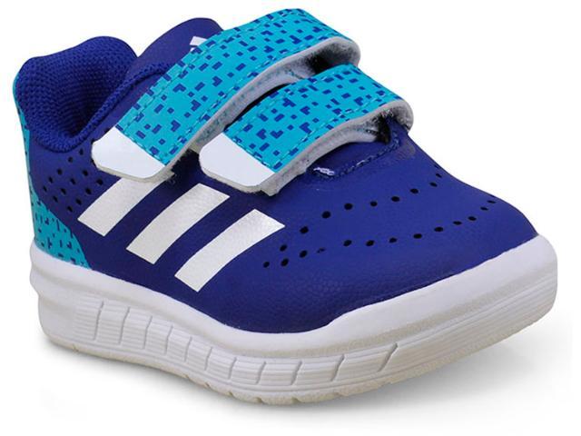 Tênis Masc Infantil Adidas H68499 Quicksport cf i Azul/branco