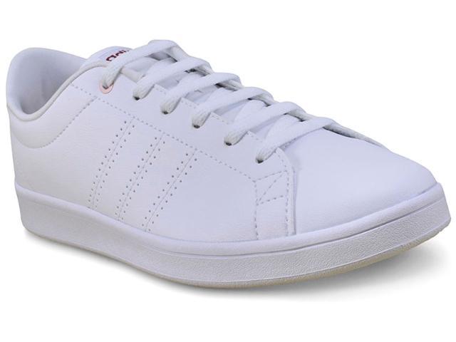 Tênis Feminino Adidas Bb9611 Advantage cl qt  Branco/rosa