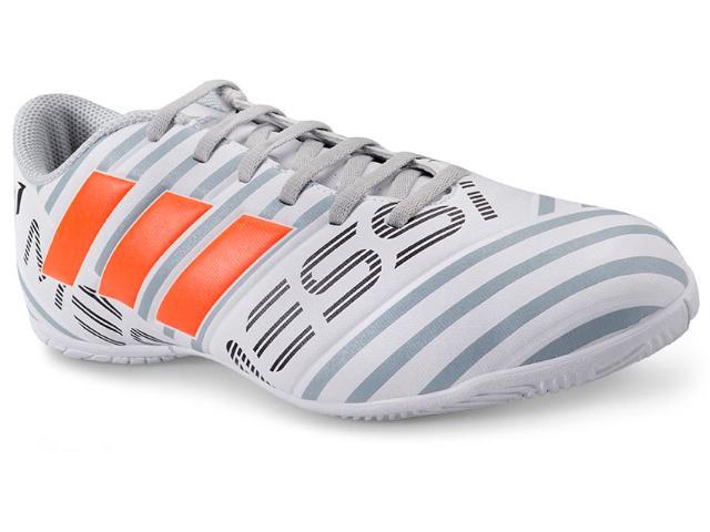 Tênis Masculino Adidas S77203 Nemeziz Messi 17.4 in  Branco/cinza/laranja