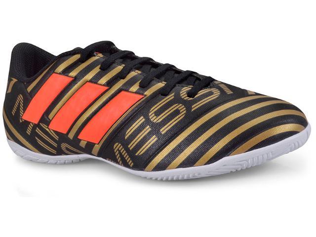 Tênis Masculino Adidas Cp9067 Nemeziz Messi 17 4 in Preto/dourado/laranja