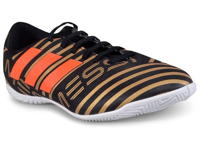Tênis Masc Infantil Adidas Cp9224 Nemeziz Messi 17.4 Preto/dourado/laranja