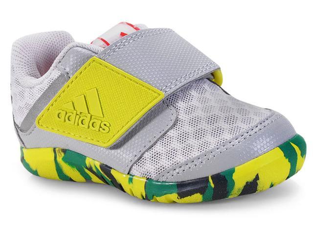 Tênis Masc Infantil Adidas Cp9429 Fortapla y Cool i   Cinza/verde