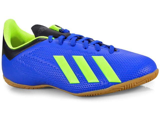 Tênis Masculino Adidas Db2482 x Tango 18.4 in Azul/limão