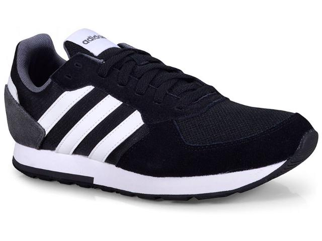 Tênis Masculino Adidas B44650 8k Preto/branco/cinza