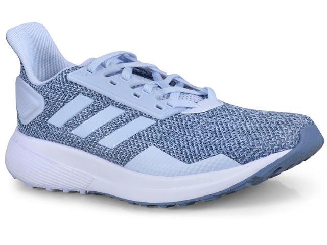 Tênis Feminino Adidas Bb7002 Duramo 9 Azul Claro/branco