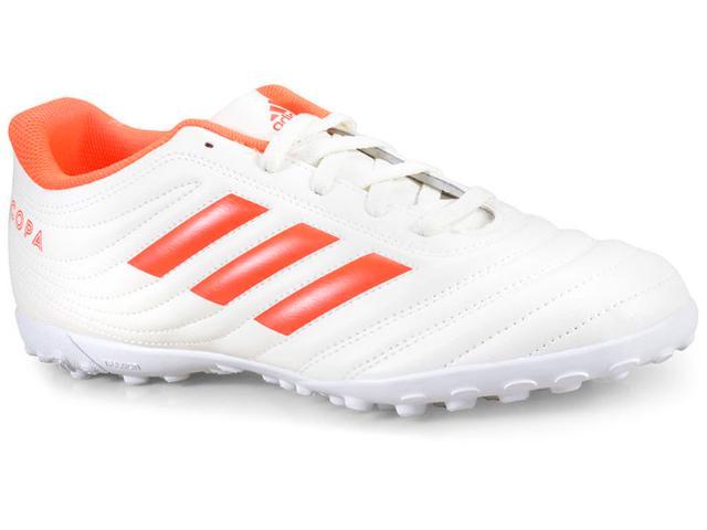 Tênis Masculino Adidas D98070 Copa 19.4 tf Off White/laranja