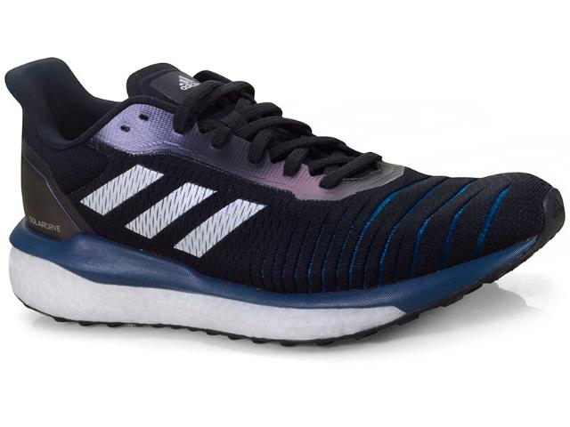 Tênis Masculino Adidas D97442 Solar Drive m Preto/azul/branco