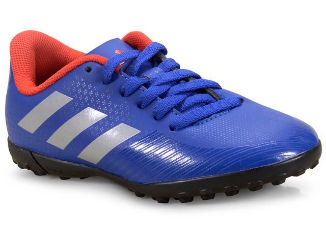 Tênis Masc Infantil Adidas F36084 Artilheira Iii tf Junior Azul/preto/vermelho