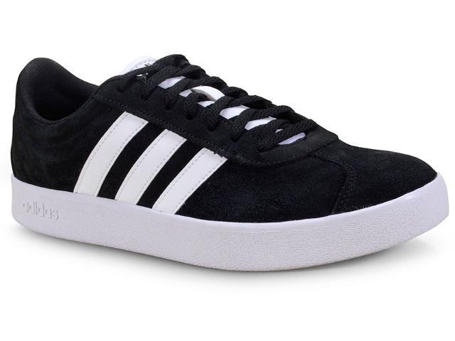 Tênis Masculino Adidas Cl5386 vl Court 2.0 Preto/branco