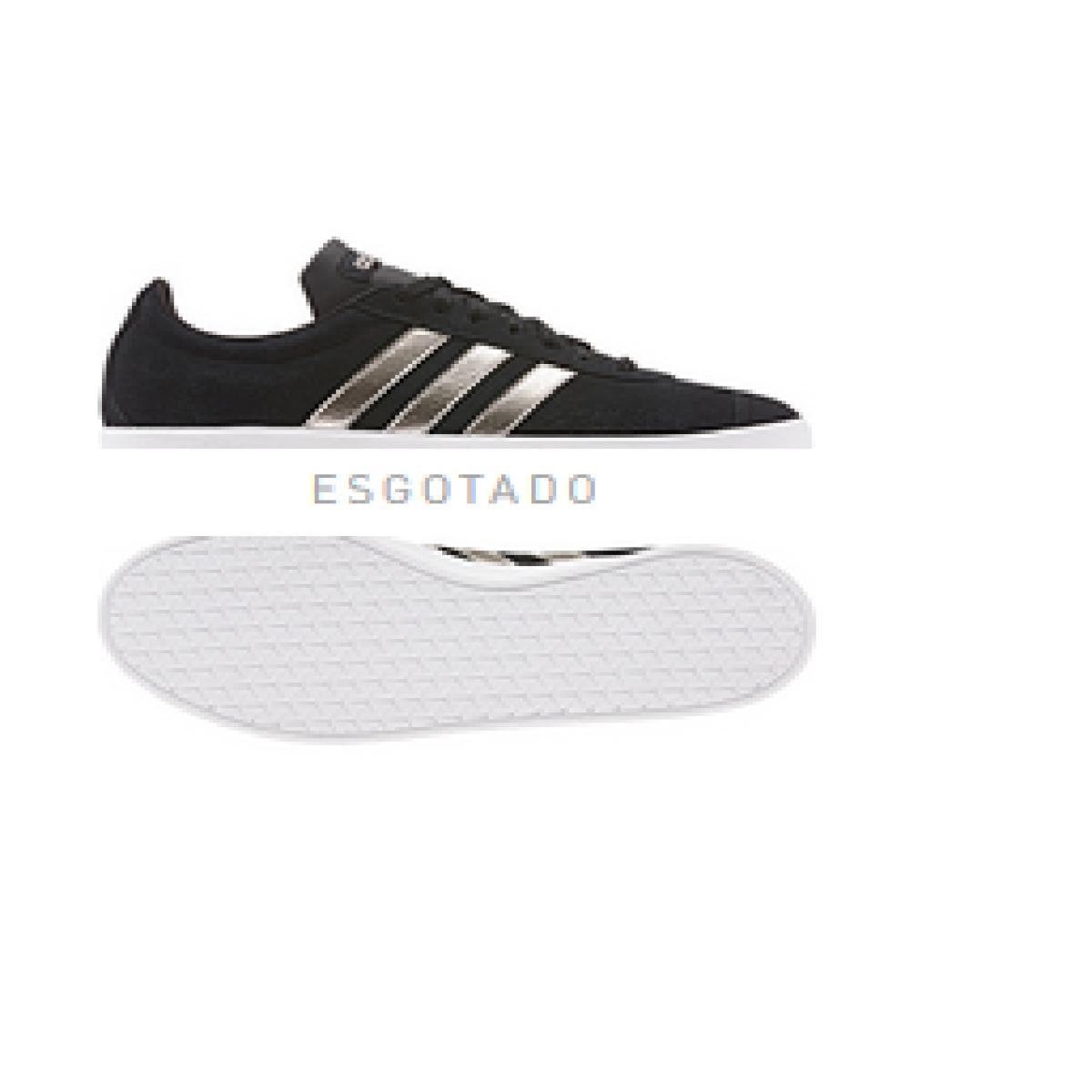 Tênis Feminino Adidas Ee6784 vl Court 20 w Preto/prata