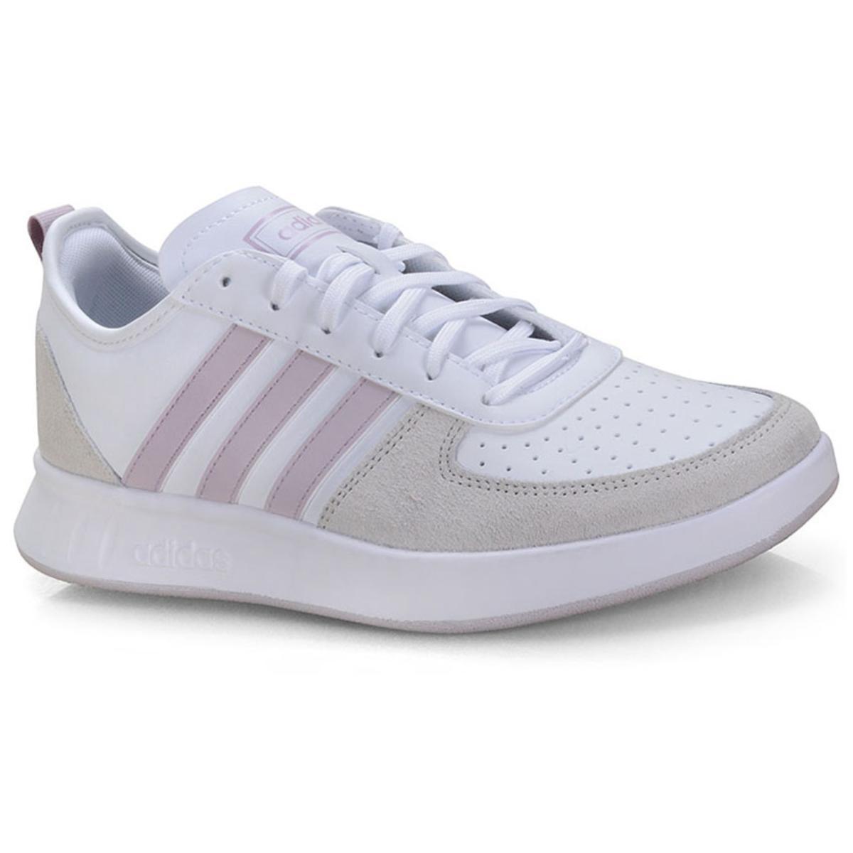 Tênis Feminino Adidas Ee9832 Court80s Branco/cru/lilas