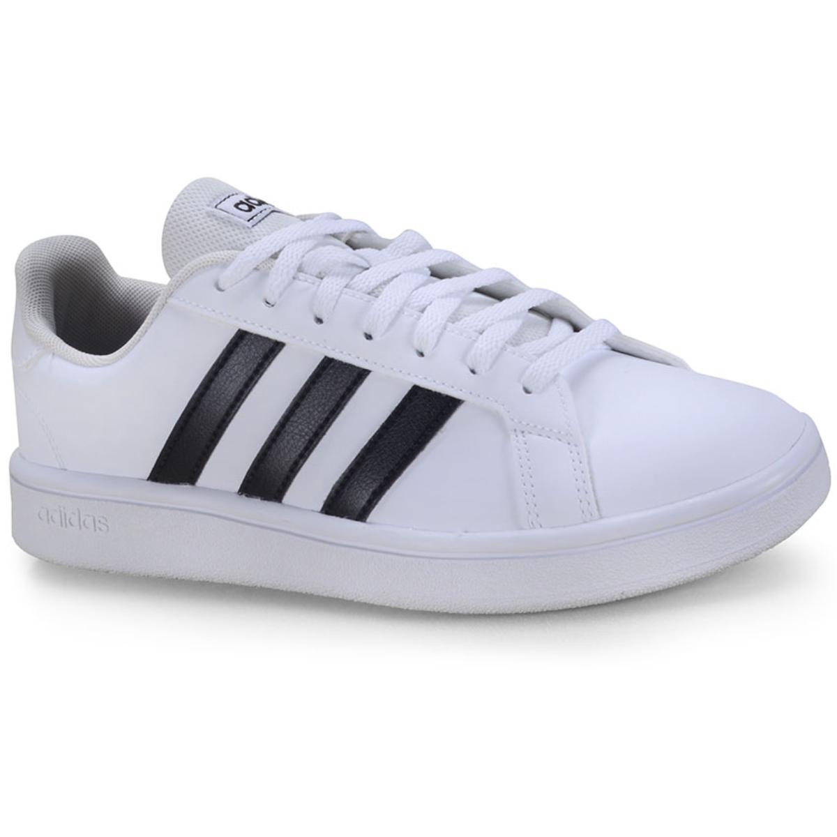 Tênis Feminino Adidas Ee7968 Grand Court Base w Branco/preto