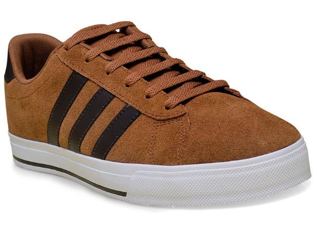 Tênis Masculino Adidas Aw4573 Daily Marrom