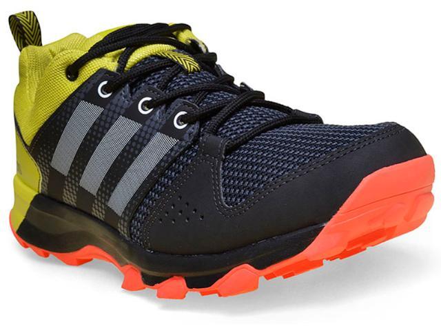 Tênis Masculino Adidas Aq5921 Galaxy Trail  Preto/amarelo/laranja