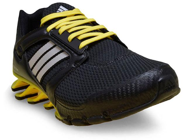Tênis Masculino Adidas Aq4527 Springblade Preto/amarelo