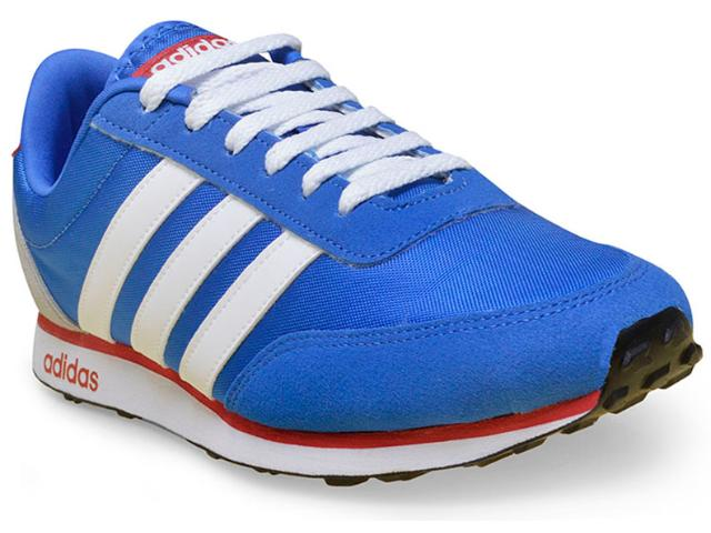 717ba71cf Tênis Masculino Adidas Aw5051 v Racer Azul/branco/vermelho