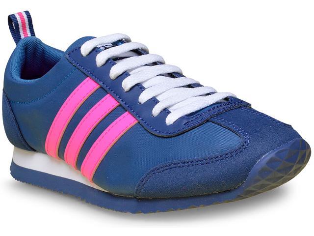 Tênis Feminino Adidas B74515 vs Jog w Azul/pink/branco