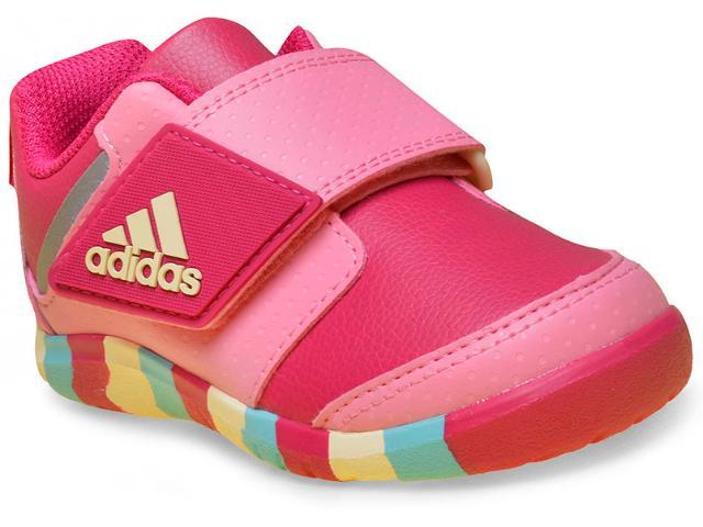 Tênis Fem Infantil Adidas Ba9556 Fortaplay ac i Rosa