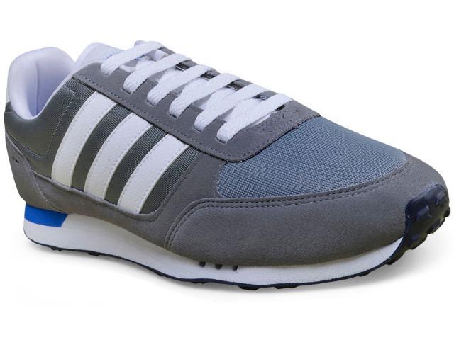 Tênis Masculino Adidas Aw3874 City Racer Cinza/branco