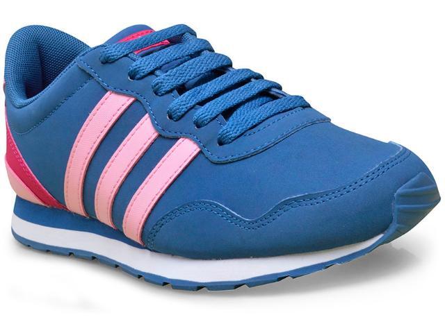 Tênis Feminino Adidas Aw4145 v Jog k Azul/rosa